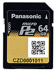 Panasonic 64GB MicroP2 Card